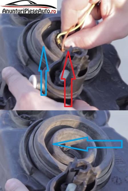 Cum se scoate protectie cauciuc de la bec ars si p Dacia Logan