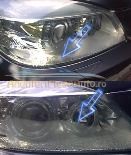 Apa in interiorul farurilor la Mercedes Benz C Class