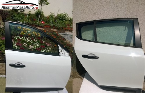 Dezmembrari usa fata si spate albe Renault Megane 3