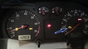 Lumina galbena bord forma de motor VW Bora