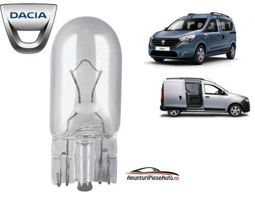 Model bec lampa interior tavan Dacia Dokker