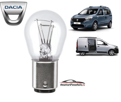 Model bec frana stop lampa spate Dacia Dokker