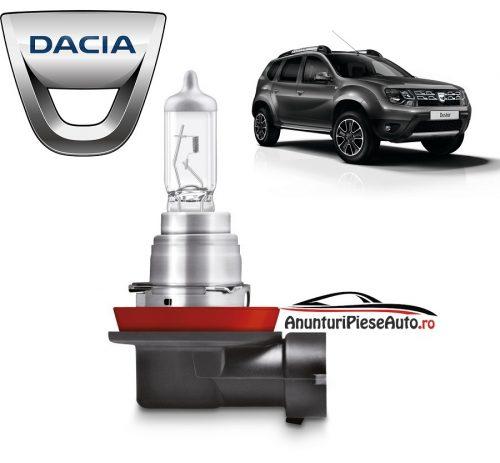 Model bec proiector ceata bara fata Dacia Duster