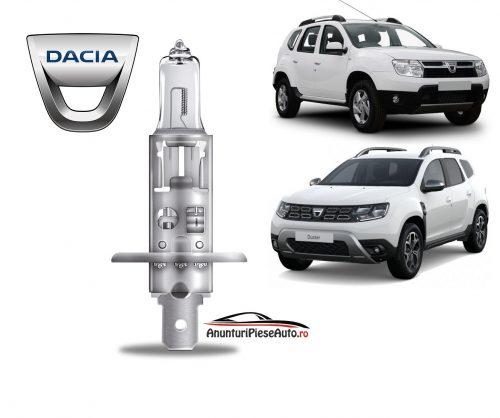Model bec faza lunga far fata Dacia Duster