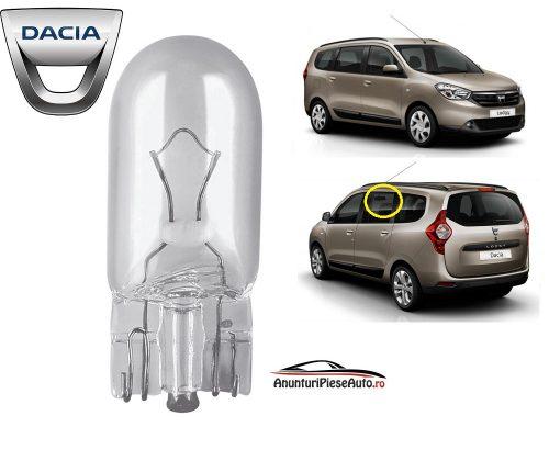 Model bec interior tavan Dacia Lodgy