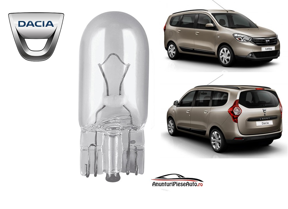 Model bec lampa numar Dacia Lodgy