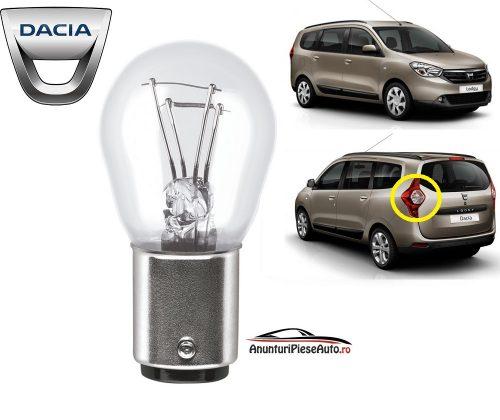 Model bec pozitie spate stop tripla lampa Dacia Lodgy