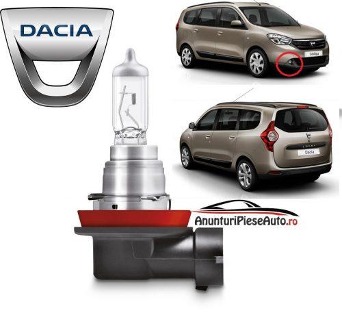Model bec proiector bara spoiler fata Dacia Lodgy