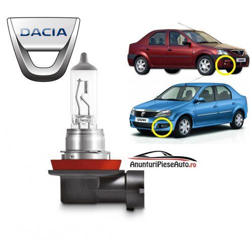 Model bec proiector ceata bara fata Dacia Logan 1 I