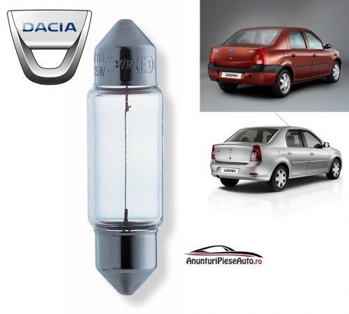 Model bec portbagaj spate Dacia Logan