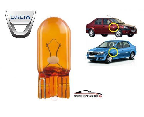 Model bec semnalizator aripa Dacia Logan