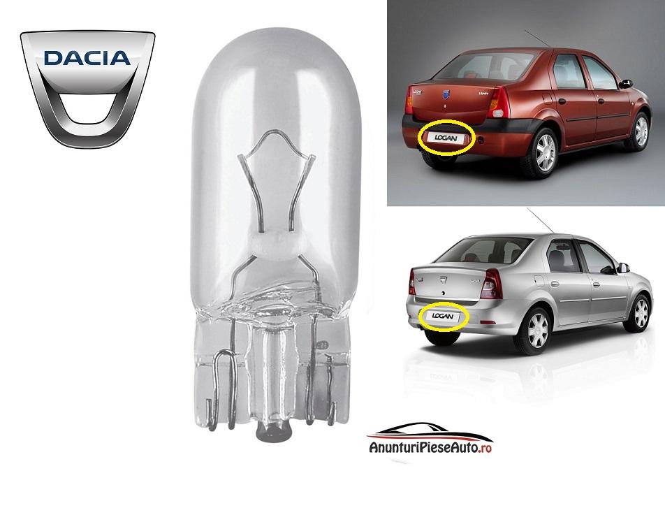 Model bec lampa numar Dacia Logan