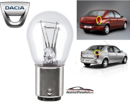Model bec pozitie lampa spate spate Dacia Logan