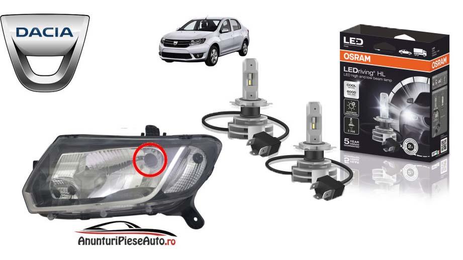 Becuri LED pentru Dacia Logan model nou