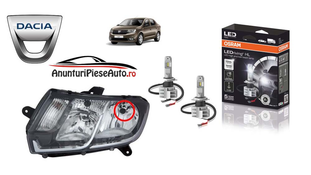 Becuri LED Dacia Logan 2