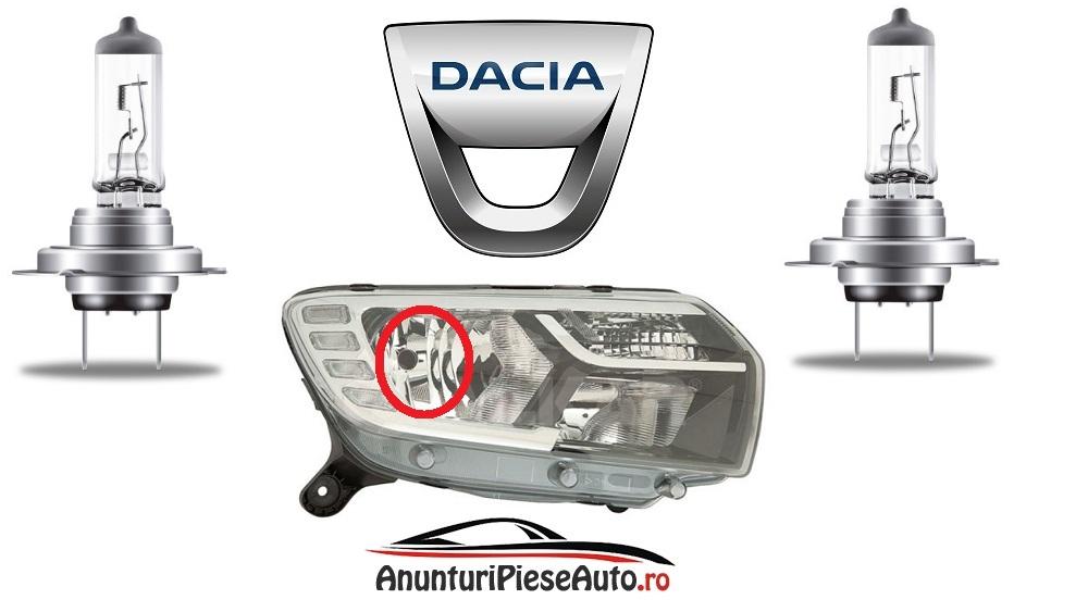 Modele de becuri Dacia Logan 2 far cu LED
